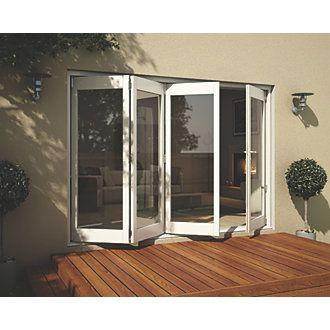 Jeld Wen Wellington Slide U0026 Fold Patio Door Set White 2994 X 2094mm | Timber