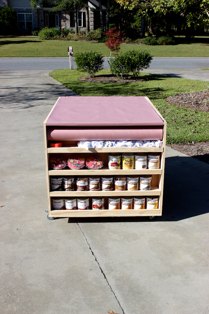 Portable Workbench with Storage
