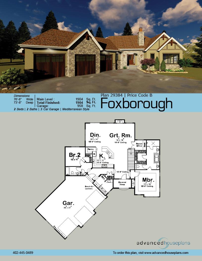 Craftsman house plans Foxborough Wood brackets