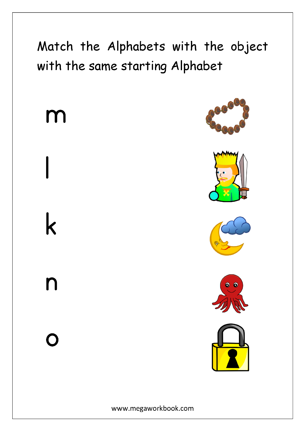 Free English Worksheets Alphabet Matching Megaworkbook Alphabet Matching Alphabet Worksheets Preschool Alphabet Pictures [ 1403 x 992 Pixel ]