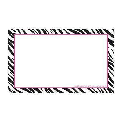 Amazon Com Border Index Cards 3x5 Zebra Blank Office Products