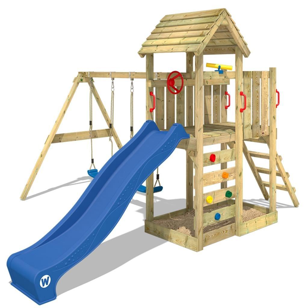 Spielturm WICKEY MultiFlyer mit Holzdach Bild 4 ...