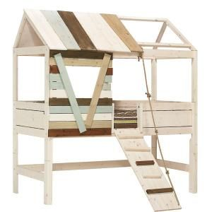 LifeTime Bett Baumhütte hoch - Spielbett