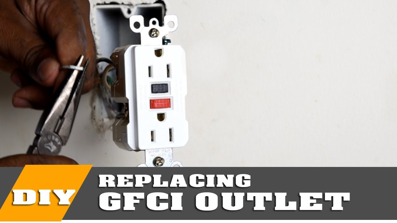 How To Install Or Replace A Gfci Outlet Youtube Gfci Gfci Plug Outlet
