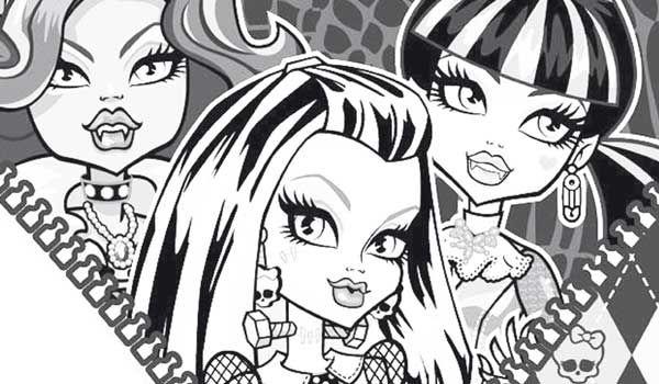 Dibujo para colorear chicas Monster High | Colorear Monster High ...
