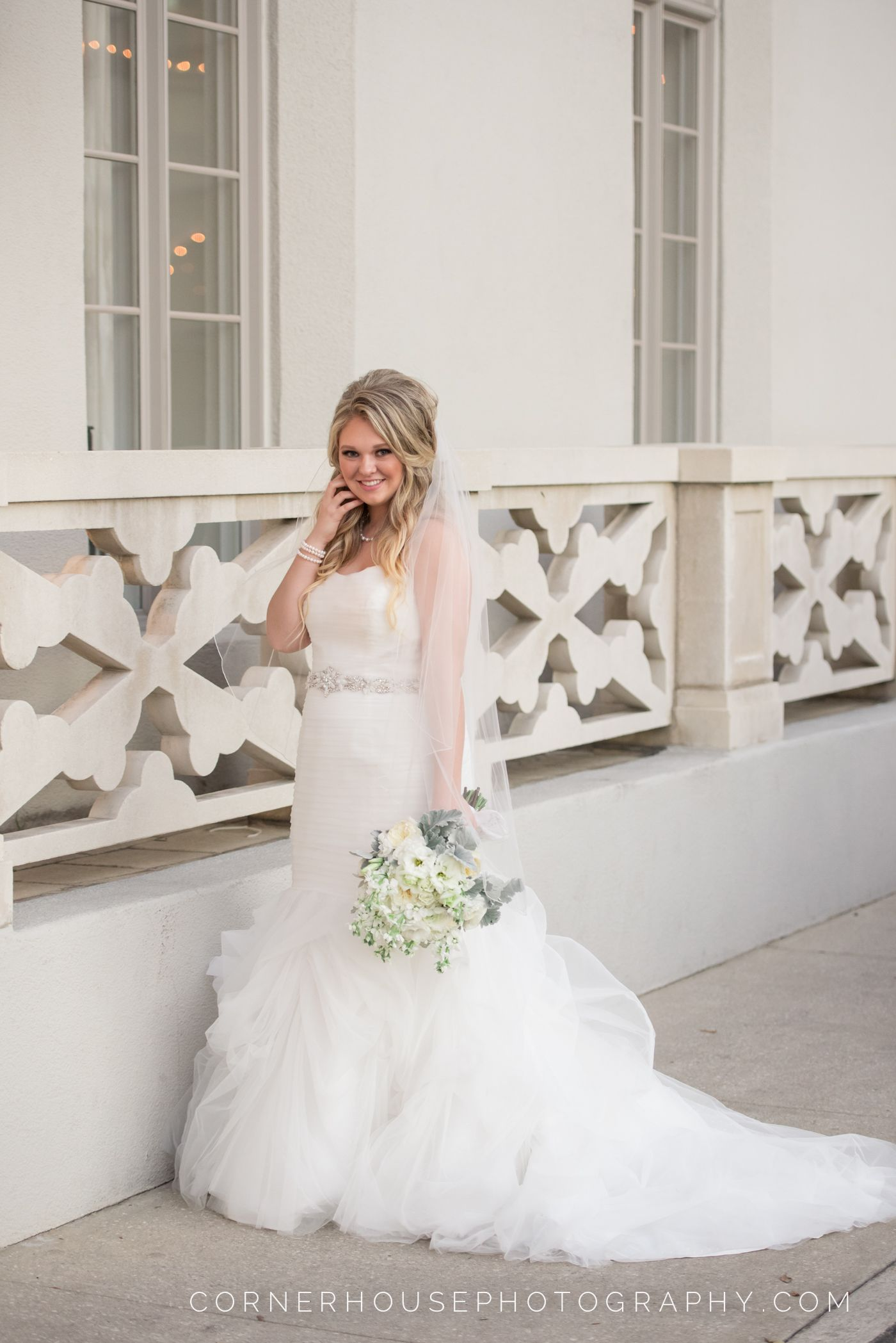 Beautiful St Augustine Bride In Her Wedding Gown Wedding Reception At The Treasury On The Plaza St Augusti Wedding Dresses Wedding Reception Wedding Gowns