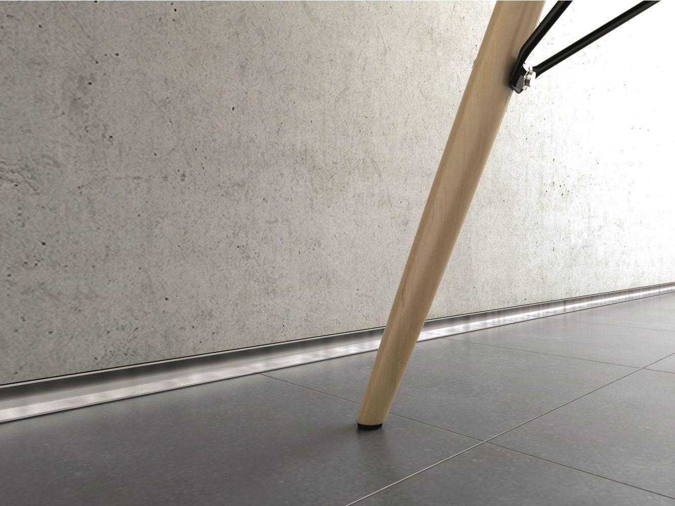 Decorative aluminium edge profile for floors METAL LINE AF by PROFILPAS