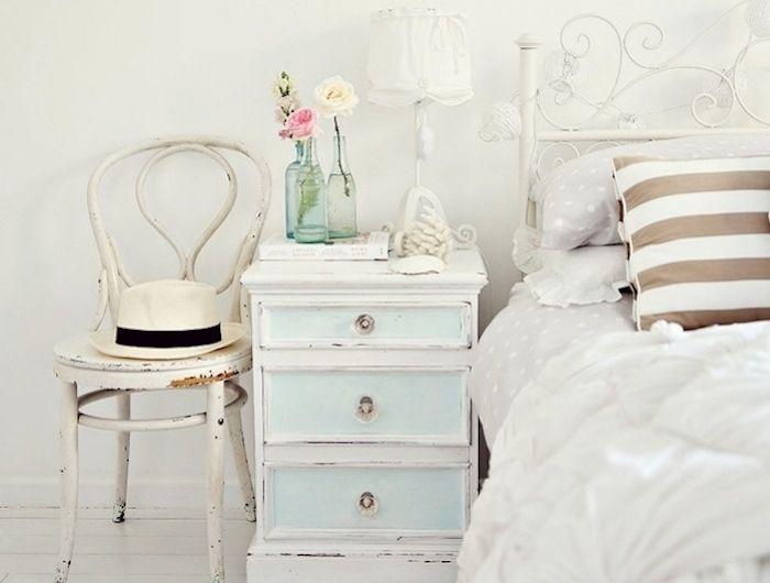 ▷ 1001 + idées comment peindre un meuble ancien - Peindre Table De Chevet