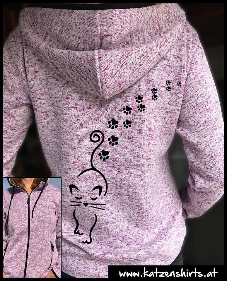 CATWALK fleece jacket for cat lovers