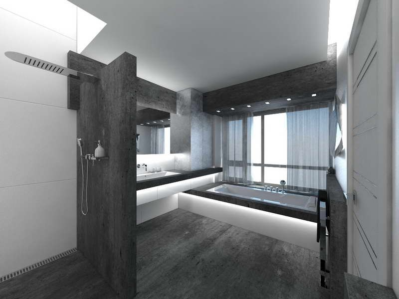 Unusual Bathrooms With Black Floor | Badezimmer Black & White ...