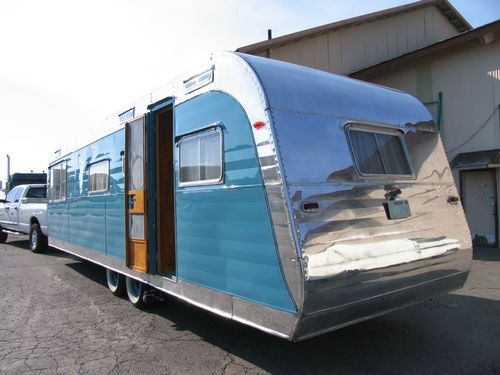 1954 Anderson Restored Vintage Travel Trailer Aluminum Birch Interior Flyte Camp