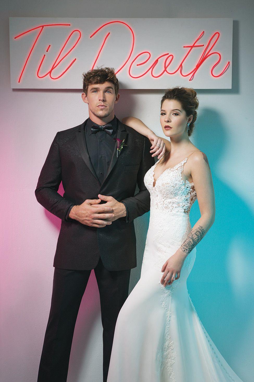 Arkansas bride generates bright bold bridal fashion for both