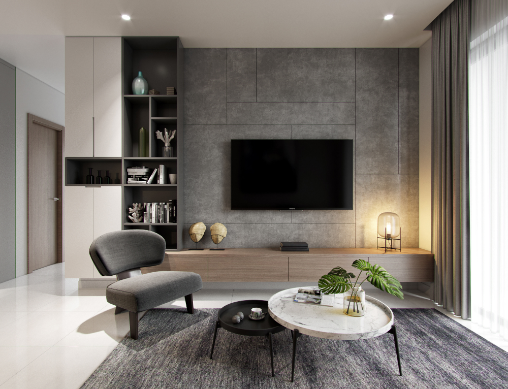 Apartment 90m2 On Behance Living Room Tv Unit Living Room Wall Units Living Room Tv #tv #table #for #living #room