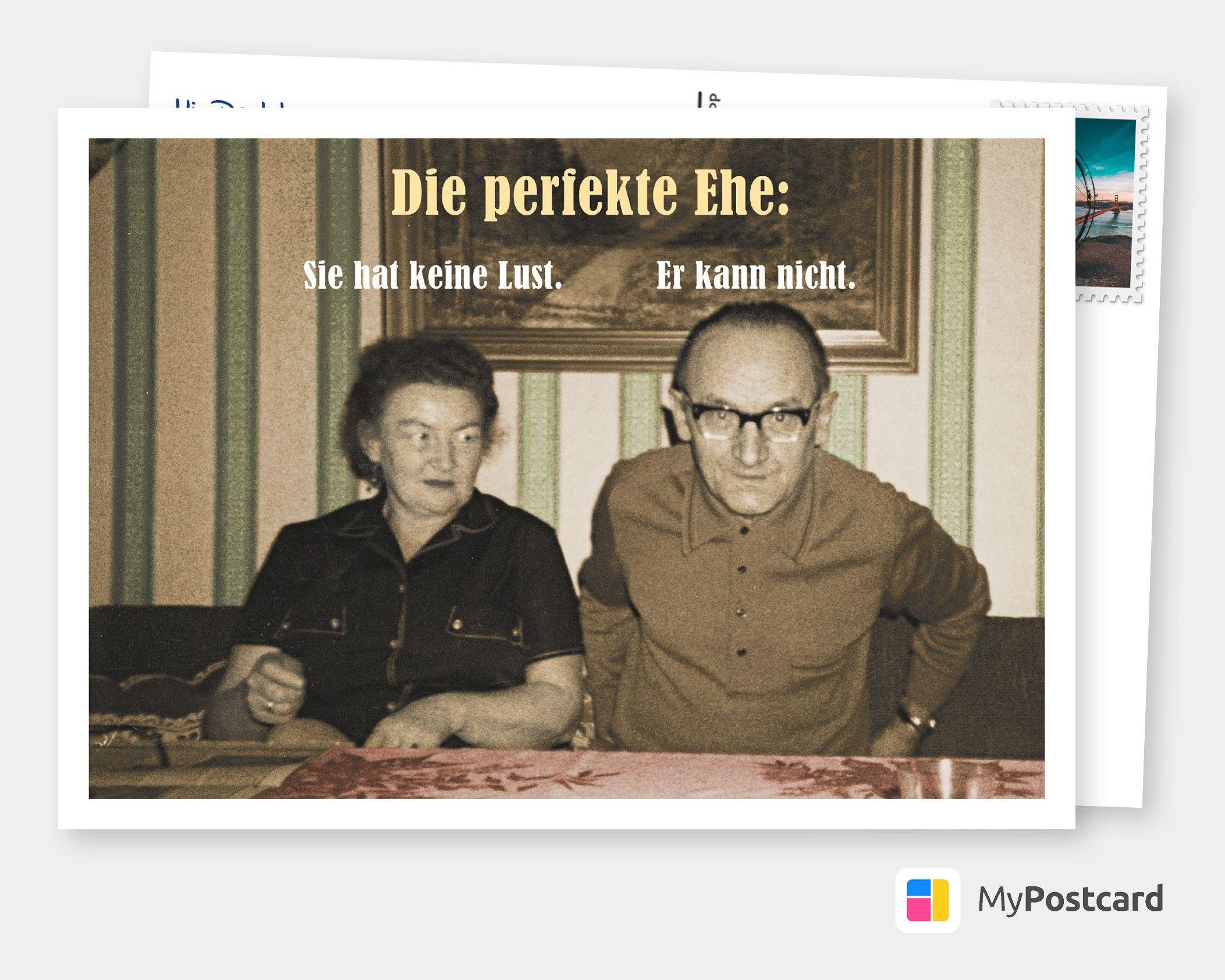 Perfekte Ehe   Witzige Karten & Sprüche 👻💩🤪   Echte ...