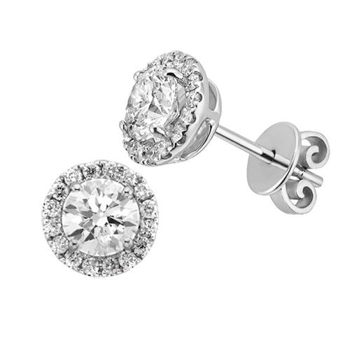 Fred Meyer Jewelers 1 2 Ct Tw Diamond Halo Stud Earrings