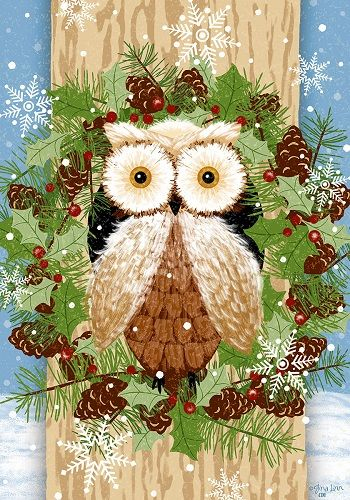 Custom Decor Flag Woodland Owl Decorative Flag At Garden