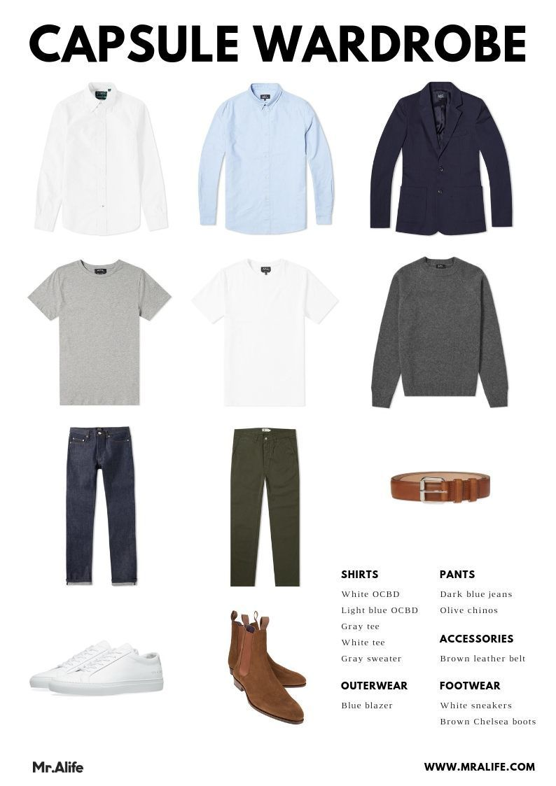 How to Build a Minimalist Wardrobe for Men [with Clothing Checklist] – Products I Love