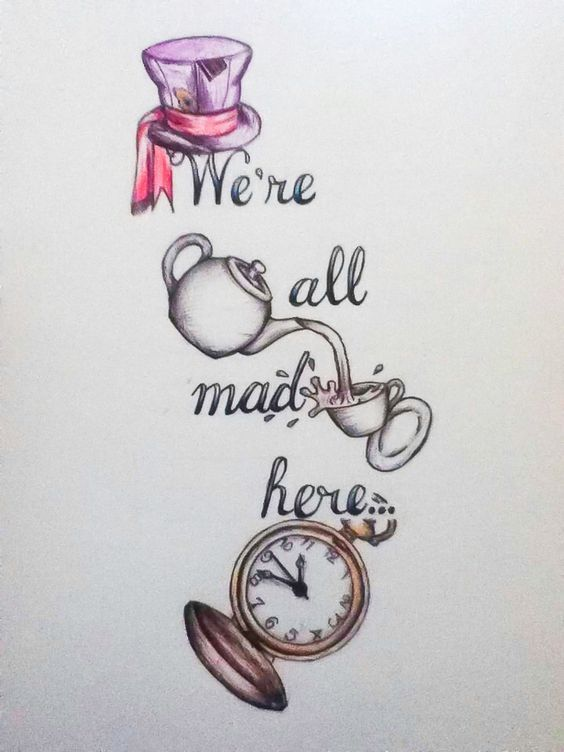 Alice In Wonderland Quotes #Draw hair shadows