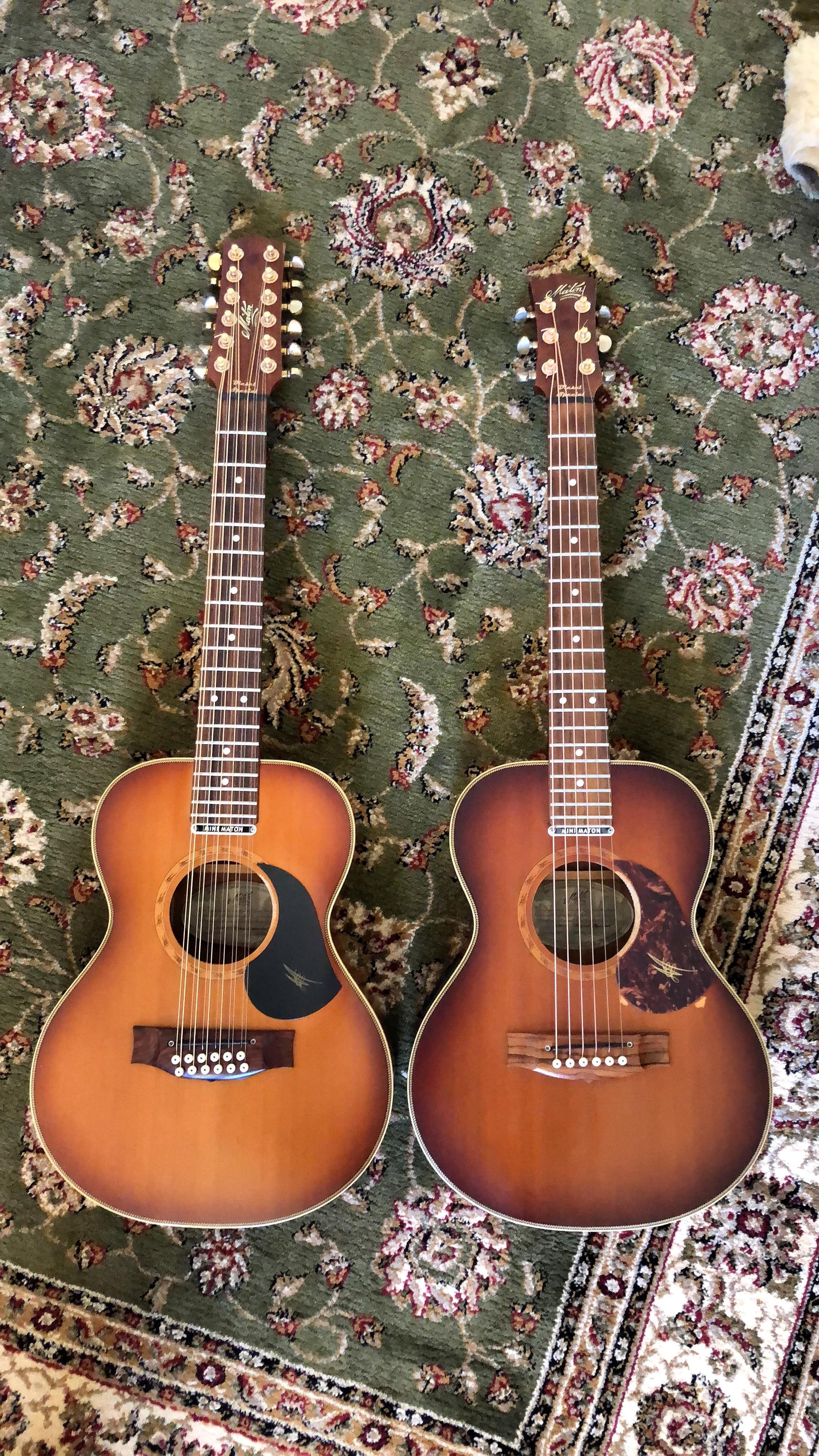 Sorry For The Guitar Spam Heres Both Together Both Mini Maton Diesel Special Emd 12 And Emd 6 Guitar Mini Diesel