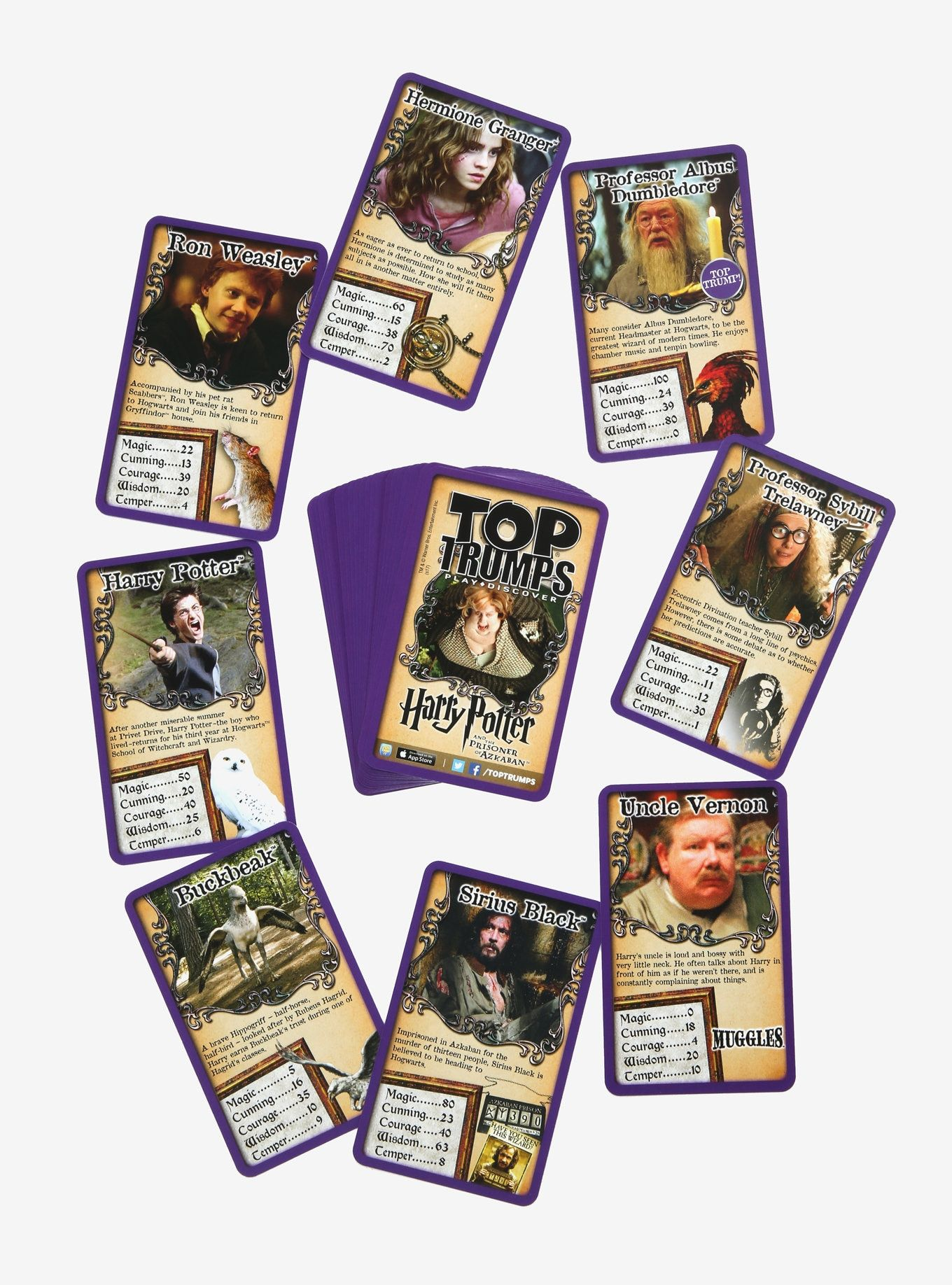 Harry Potter The Prisoner Of Azkaban Top Trumps Card Game Card