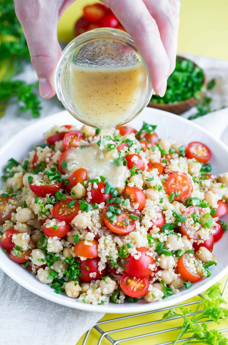 Photo of Tomato Quinoa Salad Recipe – Vegan and Gluten-Free – Peas and Crayons