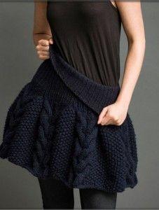 вязаная юбка спицами с описанием Handmade вязаная юбка вязание
