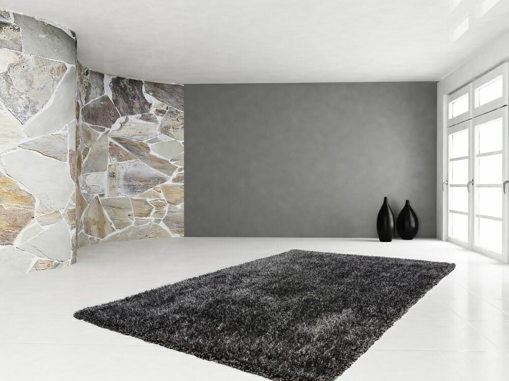 Shabby Teppich in einem schönen anthrazit http\/\/wwwteppich-flor - wohnzimmer deko shabby