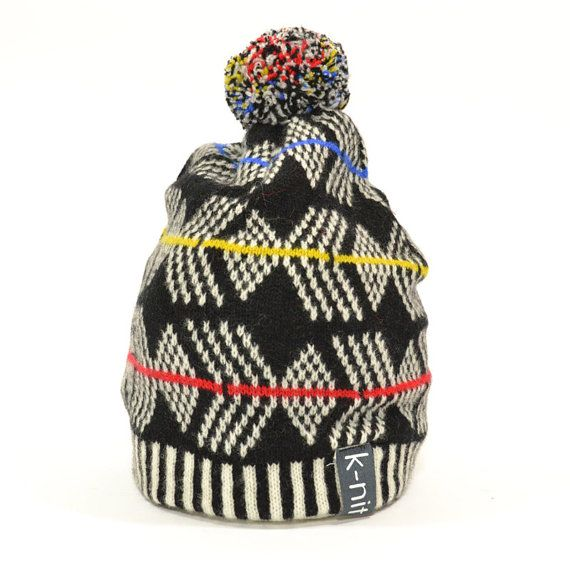 222707c4888 K-nit Howitt Handmade Hat Winter Fair Isle Knit Beanie - Bright At Night