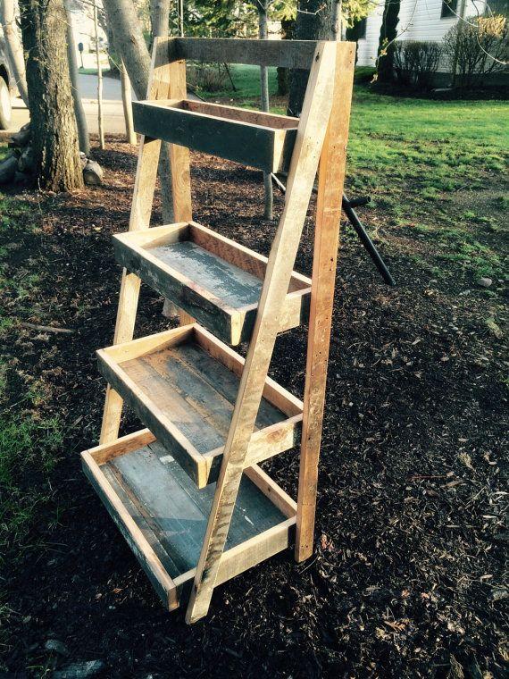 Reclaimed wood ladder shelf by pear44 on Etsy https://www ...