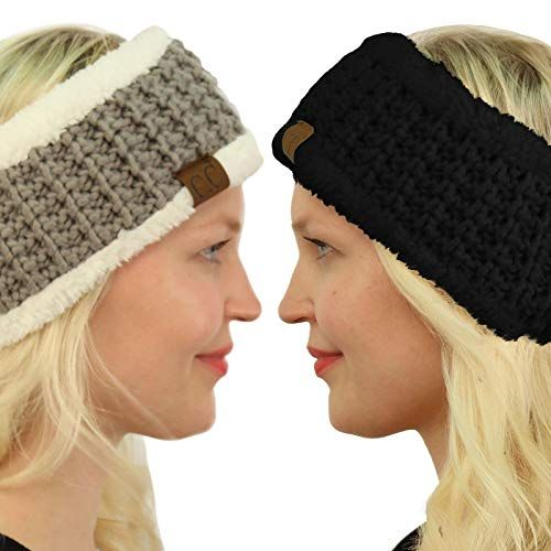 2ed70deb85f New Winter CC Sherpa Polar Fleece Lined Thick Knit Headband Headwrap Hat  Cap. Women Hats   9.99 - 24.99 allfashiondress