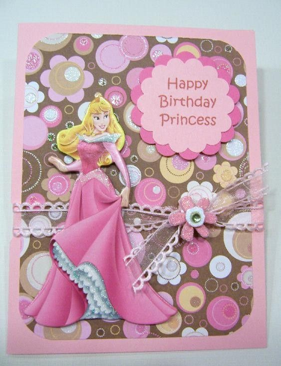 Birthday Princess Aurora Handmade Card Etsy Cards Handmade Princess Birthday Happy Birthday Princess