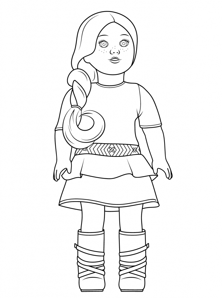 American Girl Doll Coloring Pages : american, coloring, pages, American, Coloring, Pages, Crafts,, Girls,, Birthday