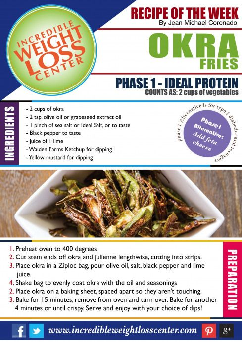 IDEAL PROTEIN - PHASE 1 RECIPE OKRA FRIES: Craving for something different? Then #idealproteinrecipesphase1dinner