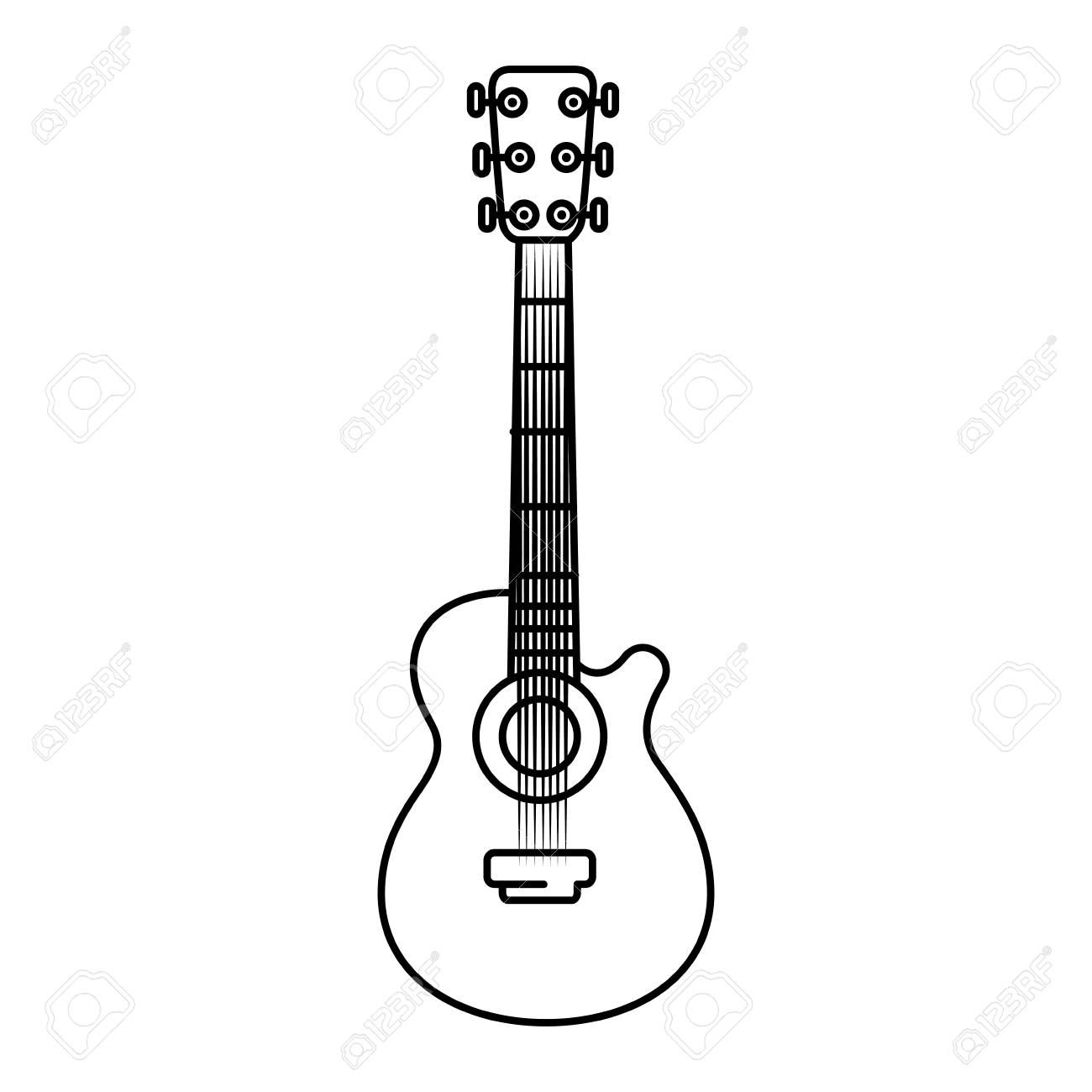 Acoustic Guitar Music Instrument Icon Vector Illustration Graphic Design Ad Music Instrument Acoustic G Acoustic Guitar Music Guitar Acoustic Guitar