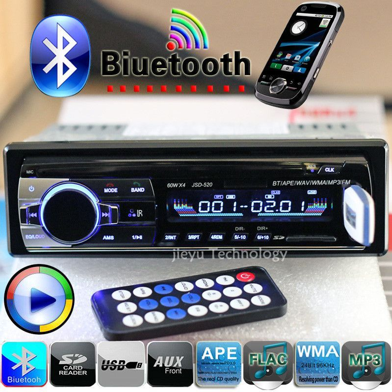 New V Bluetooth Car Stereo FM Radio MP Audio Player V Charger - Cool car radios