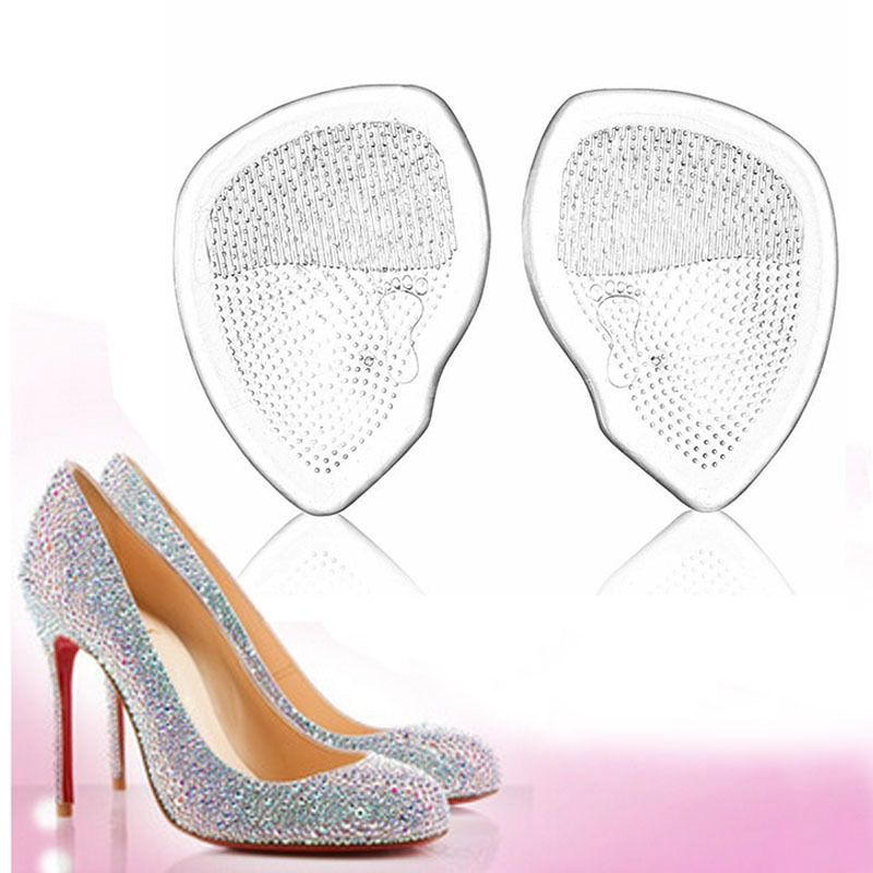 1 Pair Silicone Soft Forefoot Insoles High Heel Shoes Pad Gel Breathable Insoles