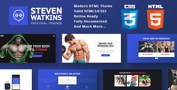 Personal Gym Trainer Nutrition Coach Site Template Personal Has - What website template is this