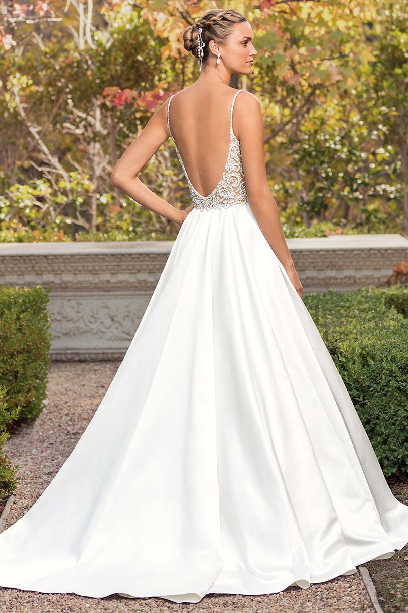 Style 2347 Arielle Candlelight Silver Wedding Dresses Beaded Wedding Dresses Satin A Line Wedding Dress