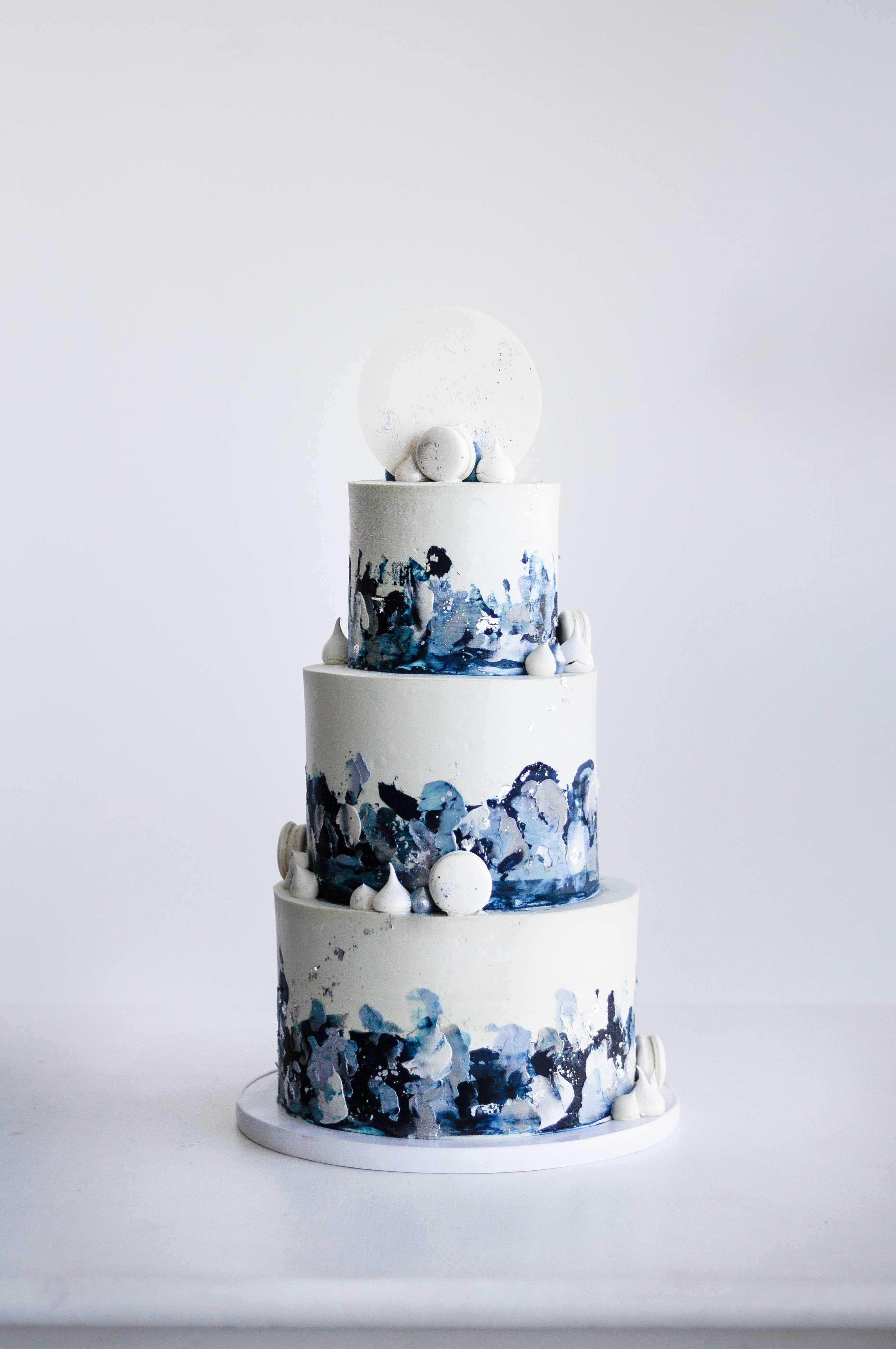 Textured Buttercream Wedding Cake By Lionheart Cool Wedding