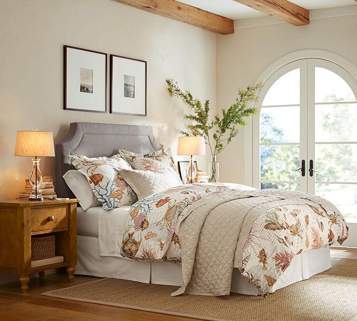 Your Organic Bedroom: Sea Life Coastal Organic Percale Duvet Cover & Sham