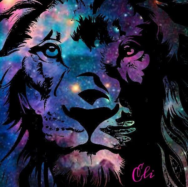 Galaxy Lion Lion Art Big Cats Art Animal Paintings