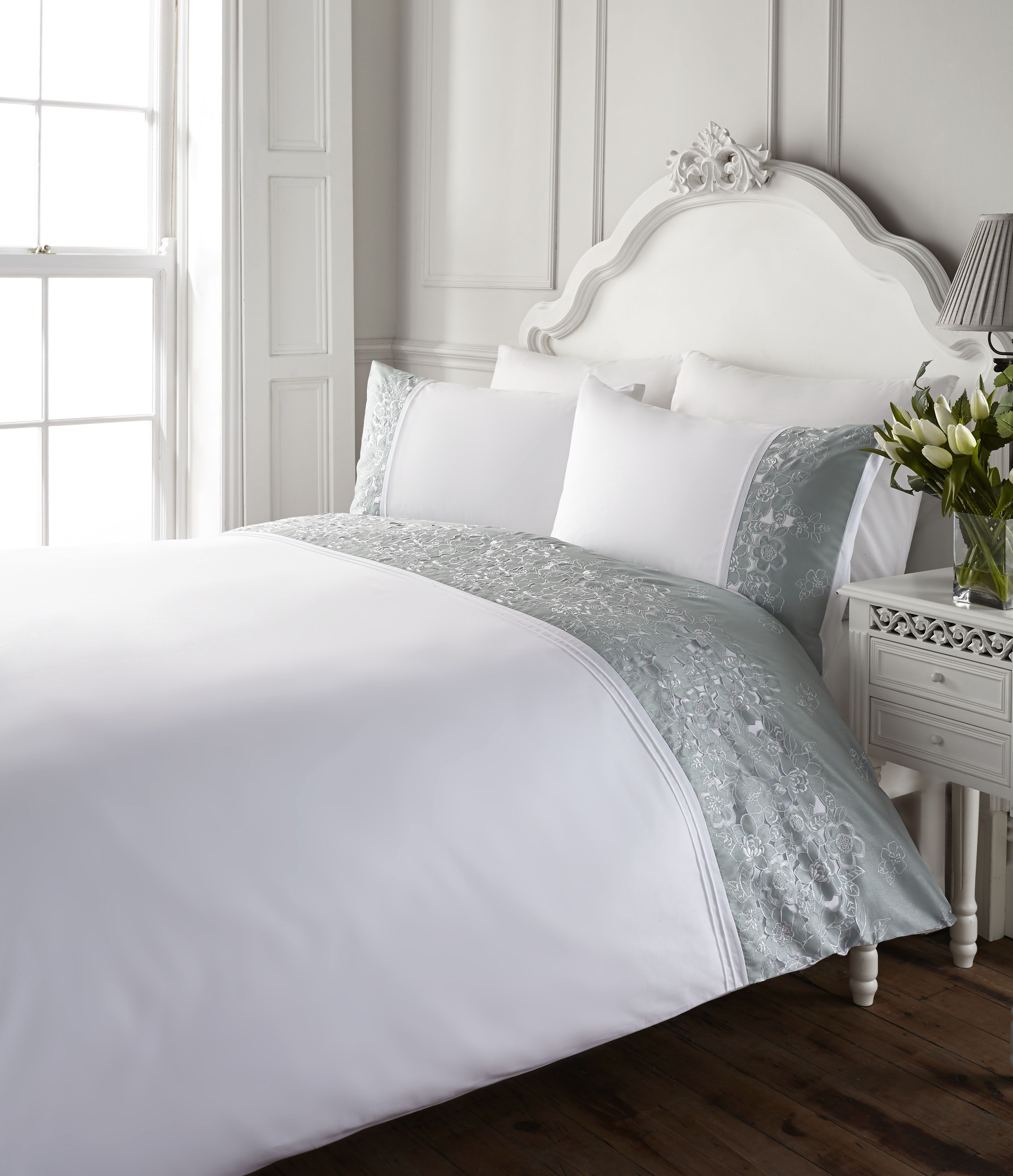 Life From Coloroll Illana Cut Out Border Duvet Set Duckegg Ponden Homes