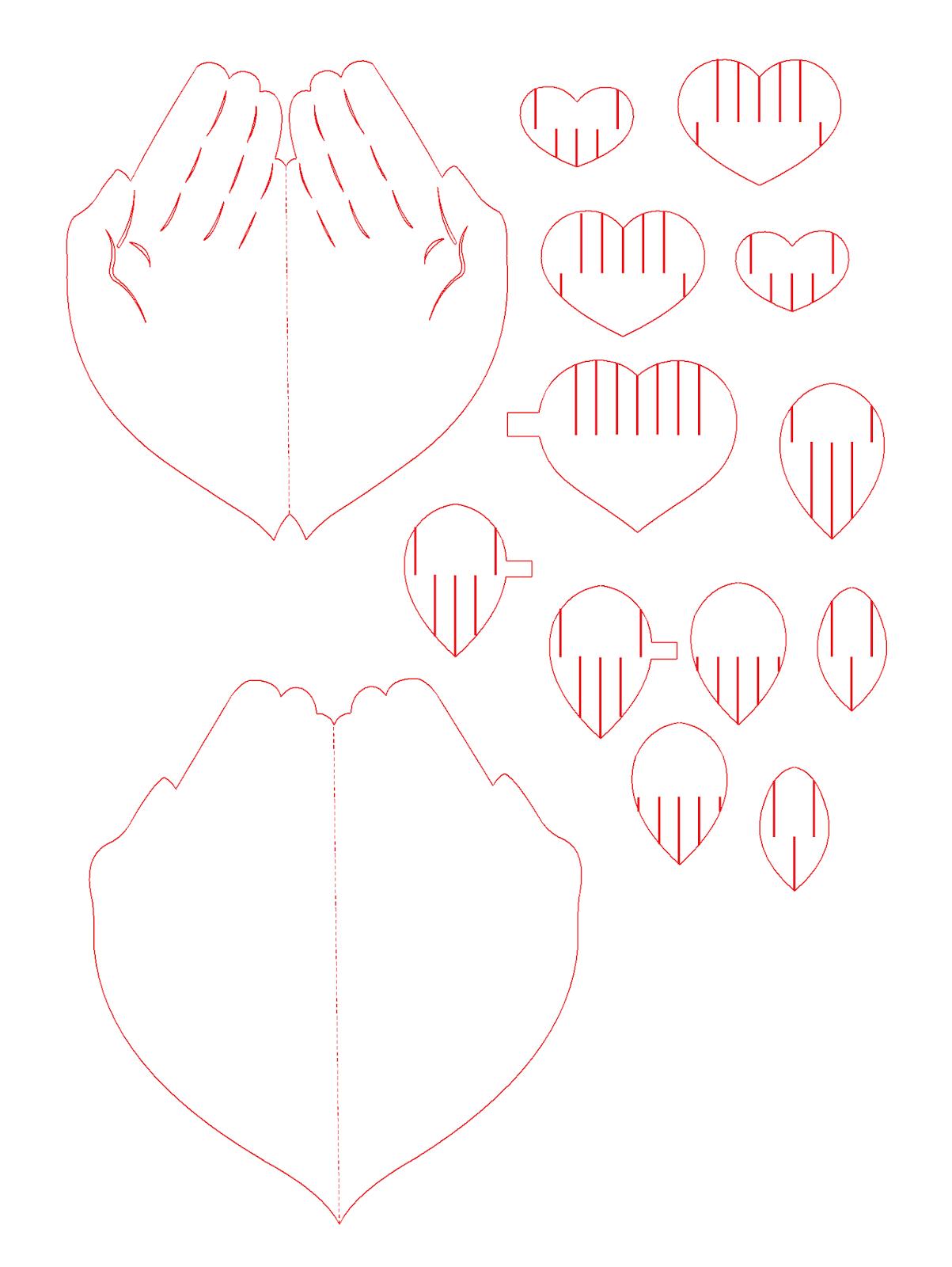 Схемы для открыток из бумаги