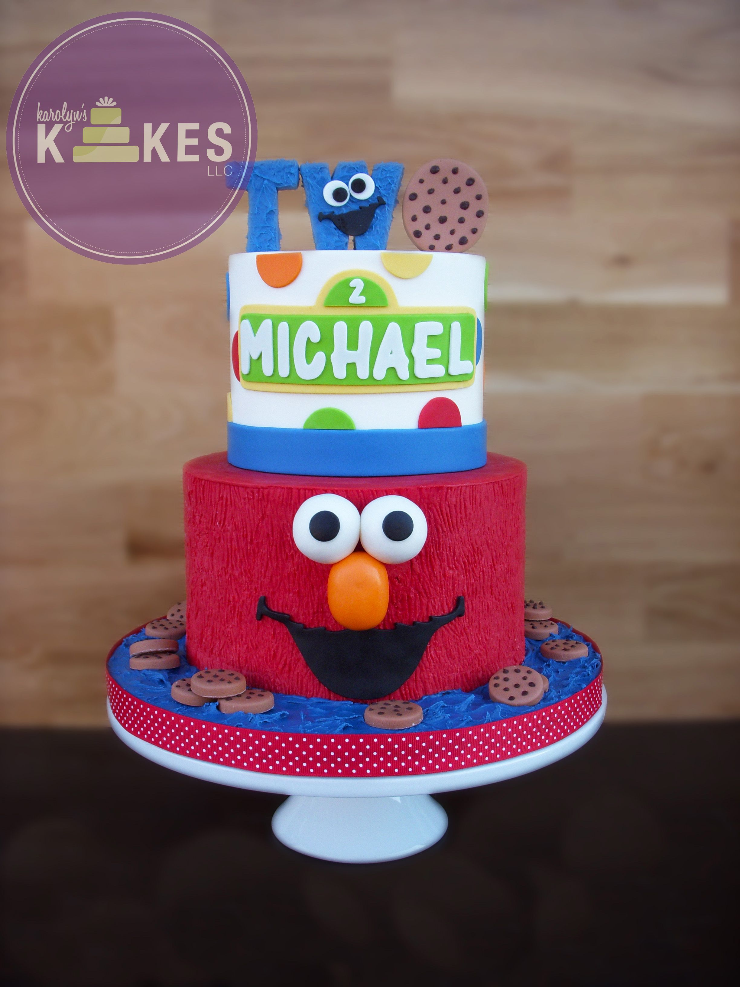Elmo And Cookie Monster Kake Both Cakes Are Iced In