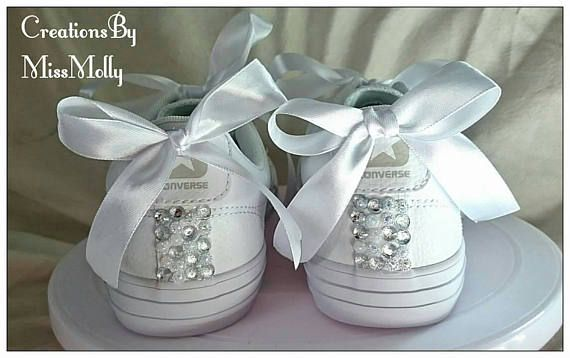 f507931b4b2f These customised converse style shoes have been decorated with rhinestones  and gems on the front and