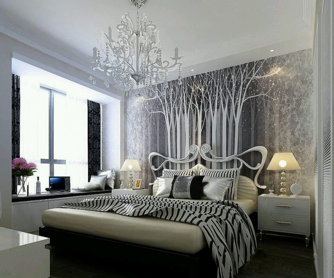 Awesome Feminine Bedroom Design With Beautiful Decorative