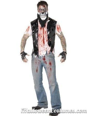 Biker Zombie Men Halloween Fancy Dress Costume » Halloween Costumes - mens halloween costume ideas 2013