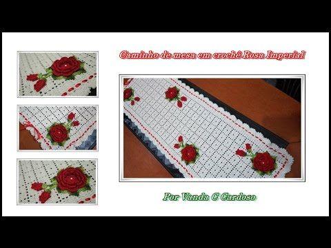 Paso a paso camino de mesa en crochet rose imperial - Caminos de mesa de papel ...