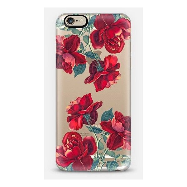 iPhone 6 Plus/6/5/5s/5c Case - Red Roses (Transparent) ($40) ❤ liked on Polyvore featuring accessories, tech accessories and casetify