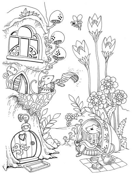 small coloring pages for adults - photo#35